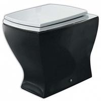 Чаша для унитаза приставного ArtCeram Jazz JZV002 черная с белым