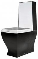 Чаша для унитаза-компакта ArtCeram Jazz JZV003 черная с белым