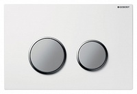 Кнопка смыва Geberit Kappa 21 115.240.KL.1 белая/матовый хром