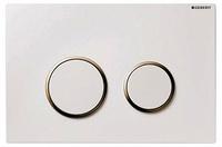 Кнопка смыва Geberit Sigma 20 115.778.KK.1 белая с золотом