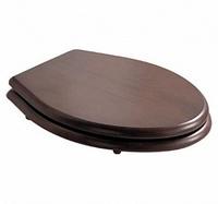 Крышка-сиденье Galassia Ethos орех петли бронза