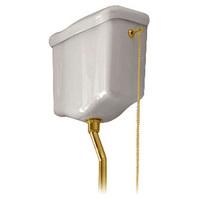 Механизм смыва для навесного высокого бачка Kerasan Retro 750191 (золото)