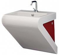 Раковина ArtCeram LaFontana LFL002 белая с красным
