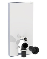 Сантехнический модуль для подвесных и напольных унитазов Geberit Monolith Plus 131.201.SI.1 с подсветкой