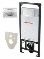 Система инсталляции для унитазов AlcaPlast Sadromodul A101/1200 4 в 1 кнопка смыва хром