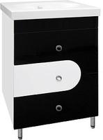 Тумба Style Line Адонис 60, черно-белая