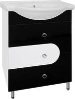 Тумба Style Line Адонис 65, черно-белая