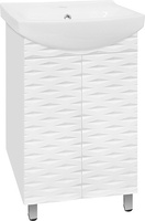 Тумба с раковиной Style Line Папирус 60 под умывальник Комо 60, белая