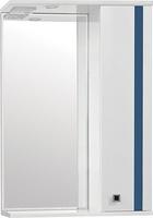 Зеркальный шкаф Style Line Флокс 55/С, синее стекло