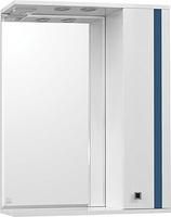 Зеркальный шкаф Style Line Флокс 65/С, синее стекло