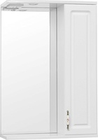 Зеркальный шкаф Style Line Олеандр-2 55/С Люкс, белый