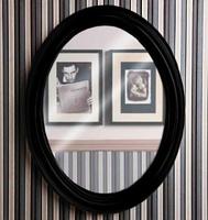 Зеркало Simas Lante черный глянцевый